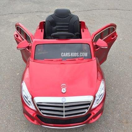 Электромобиль Mercedes Benz S600 красный (усиленный аккумулятор, резина, кожа, пульт, музыка)